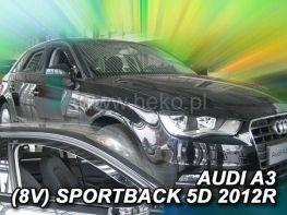 Ветровики AUDI A3 8V (2013-) 5D Sportback HEKO