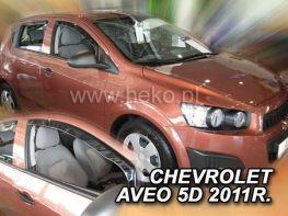 Ветровики CHEVROLET Aveo T300 (2011-) Hb - HEKO