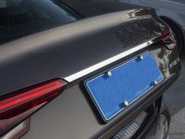 Хром накладка над номером AUDI A4 B9 (2016-) Sedan