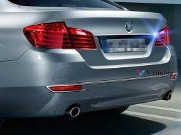 Хром накладка над номером BMW 5 F10 (10-17) Sedan