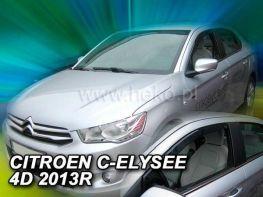 Ветровики CITROEN C-Elysee (12-) Sedan - Heko (вставные)