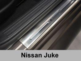 Хром накладки на пороги NISSAN Juke Crossover (2010-) ПОЛЬША