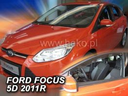 Ветровики FORD Focus III (11-18) HB / Sedan - HEKO (вставные)