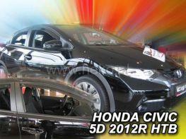 Ветровики HONDA Civic IX (2012-) 5D Hatchback HEKO