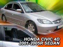 Ветровики HONDA Civic VII (01-05) Sedan - Heko (вставные)