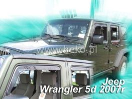Ветровики JEEP Wrangler JK (2011-) 5D HEKO