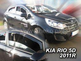 Ветровики KIA Rio III (2011-) 5D Hatchback HEKO