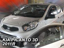 Ветровики KIA Picanto II (TA) (2011-) 3D HEKO