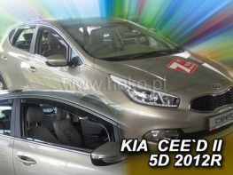 Ветровики KIA Ceed II (12-18) 5D HB - HEKO
