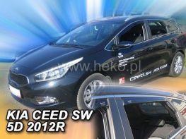 Ветровики KIA Ceed II (2012-) 5D SW HEKO