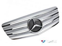 Решётка MERCEDES E W211 (02-06) - серебряная CL