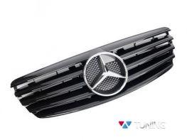 Решётка MERCEDES E W211 (02-06) - CL чёрная глянцевая