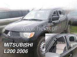 Ветровики MITSUBISHI L200 DOUBLE/SINGLE CAB (2006-) 2D/4D HEKO