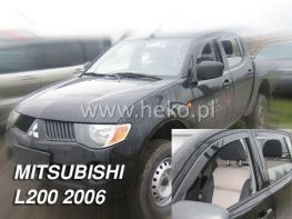 Ветровики MITSUBISHI L200 DOUBLE CAB (2006-) 4D HEKO
