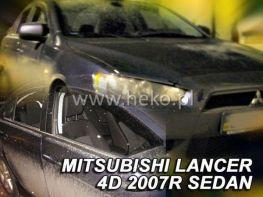 Ветровики MITSUBISHI Lancer X (07-15) - Heko (вставные)