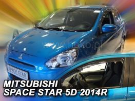 Ветровики MITSUBISHI Space Star Mirage (2014-) 5D HEKO
