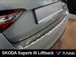 Накладка на задний бампер SKODA Superb III (B8) Liftback - AVISA