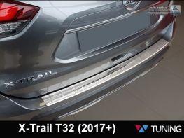 Накладка на задний бампер NISSAN X-Trail T32 (14-/17-) - AVISA