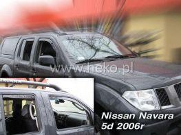 Ветровики NISSAN Navara IV D40 (2005-) 4D HEKO