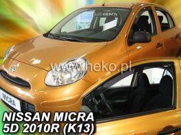 Ветровики вставные NISSAN Micra IV K13 (2011-) 5D HEKO