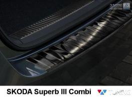 Чёрная накладка на бампер SKODA Superb III (B8) Combi - AVISA