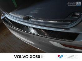 Чёрная накладка на задний бампер VOLVO XC60 II (2017-)