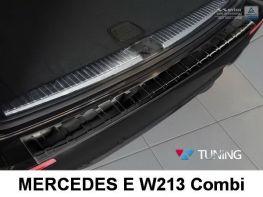 Чёрная накладка на задний бампер MERCEDES E W213 Combi