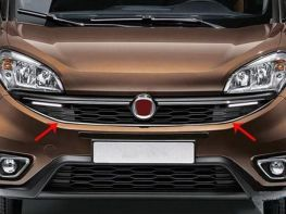 Хром окантовка решётки FIAT Doblo II (2014-) рестайлинг