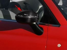 Накладки на зеркала FIAT 500 / 500C (12-15) - карбон