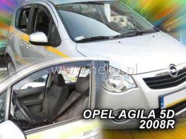 Ветровики вставные OPEL Agila B (07-15) 5D HEKO