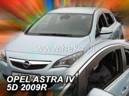 Ветровики OPEL Astra J (2009-) 5D HB HEKO
