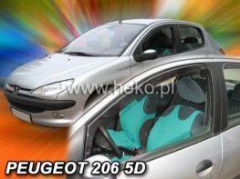 Ветровики PEUGEOT 206 (1998-) 5D Combi HEKO