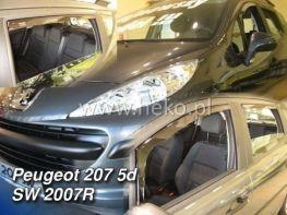 Ветровики PEUGEOT 207 (2006-) 5D Hatchback HEKO