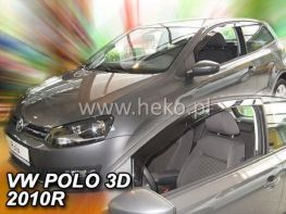 Ветровики VW Polo V (10-17) 3D - Heko (вставные)