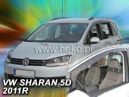 Ветровики VW Sharan II (10-) - Heko (вставные)