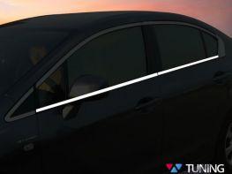 Хром нижние молдинги стёкол HONDA Civic 9 (12-15) Sedan