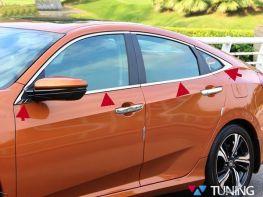 Хром нижние молдинги стёкол HONDA Civic 10 (16-21) Sedan