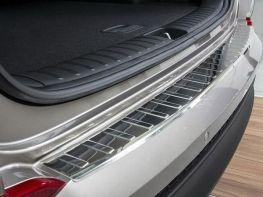 Накладка на задний бампер HYUNDAI Tucson III TL (16-18) - Avisa (сталь)