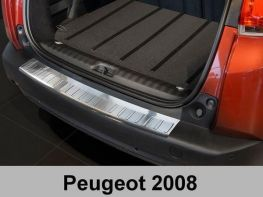 Накладка на задний бампер PEUGEOT 2008 (13-) - Avisa