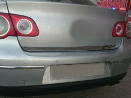 Хром на нижнюю кромку багажника VW Passat B6 Sedan