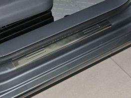 Хром накладки на пороги VW Caddy III (2004-) OMSA