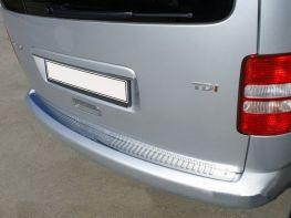 Хром планка на задний бампер VW Caddy III (04-) OMSA без загиба