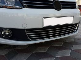 Хром накладки решётки бампера VW Caddy (Comfort) (10-14)