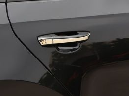 Хром накладки на ручки VW Passat CC (08-16) - плоские