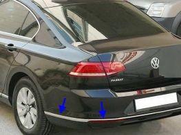 Хром молдинг заднего бампера VW Passat B8 Sedan