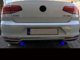Хром имитаторы насадок диффузора VW Passat B8 - R-Line