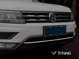Хром полоска на передний бампер VW Tiguan II (2016-)