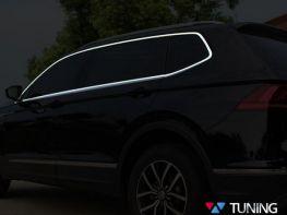 Хром молдинги стёкол VW Tiguan II (16-19)