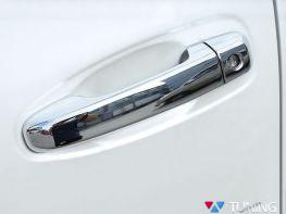 Хром накладки на ручки TOYOTA Prado 150 (09-) - полные