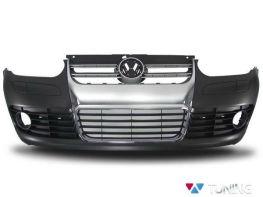 """Бампер передний VW Golf IV """"R32 GOLF 5"""" хром решётка"""